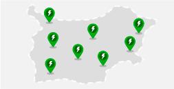 Mapa ze stacjami ładowania