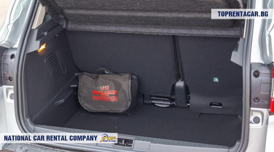 Renault Captur - widok z bagażnika