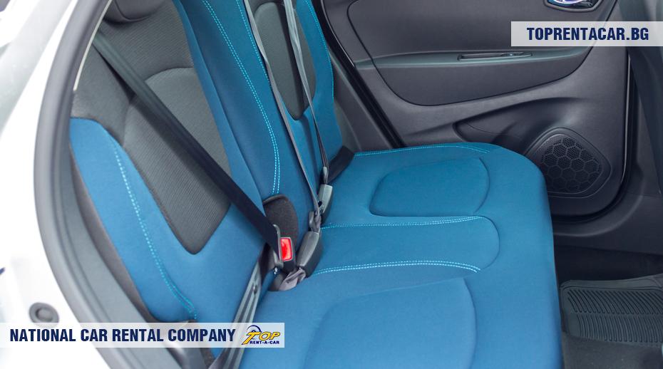 Renault Captur - tylne siedzenia
