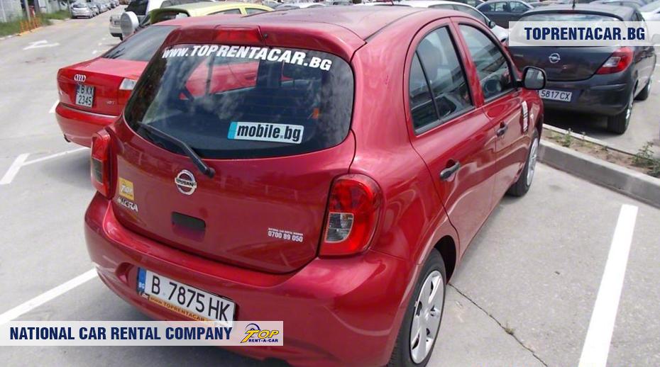 Nissan Micra - widok z tyłu