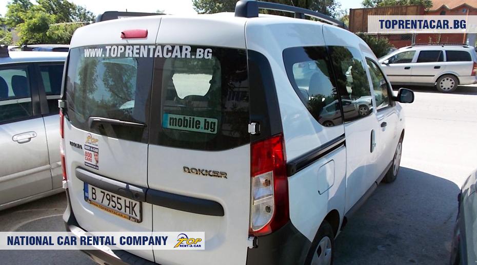 Dacia Dokker - widok z tyłu