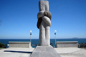 Pomnik w pobliżu Sea Garden