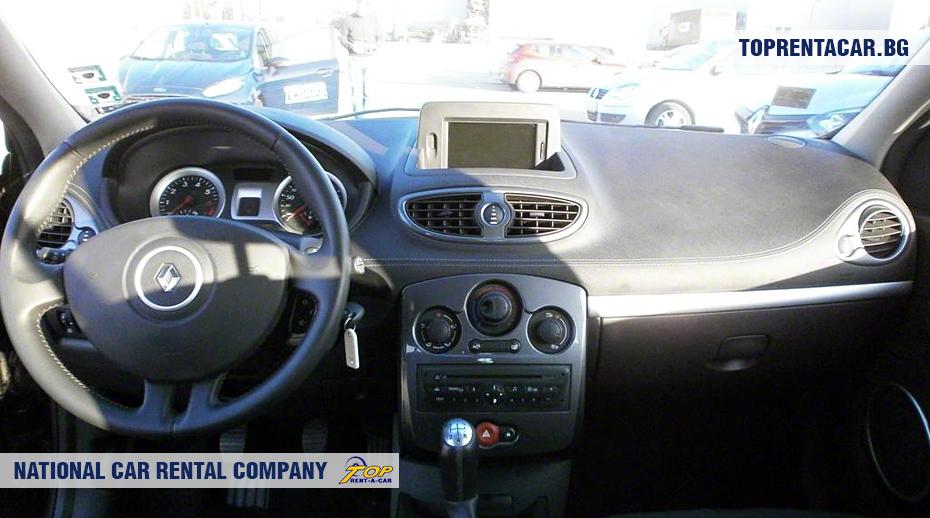Renault Clio III - wewnątrz widoku