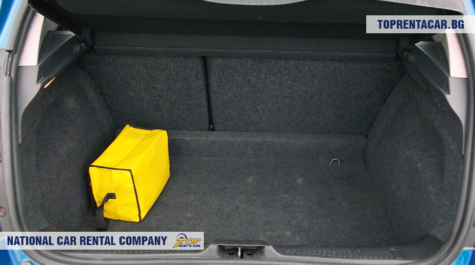Renault Clio III - widok z bagażnika