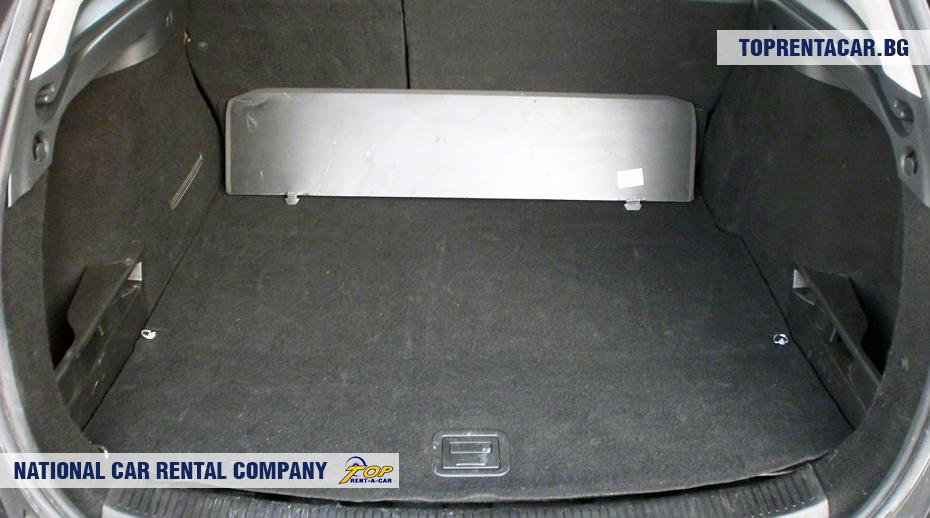 Renault Megane - widok z bagażnika