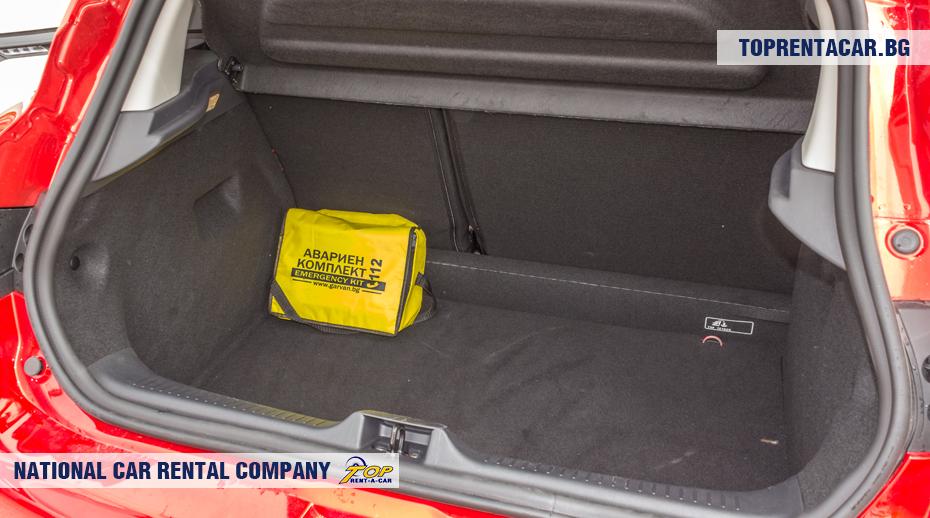 Renault Clio IV TCe - widok z bagażnika