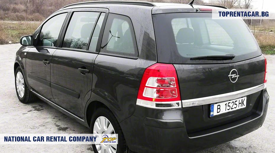 Opel Zafira - widok z tyłu