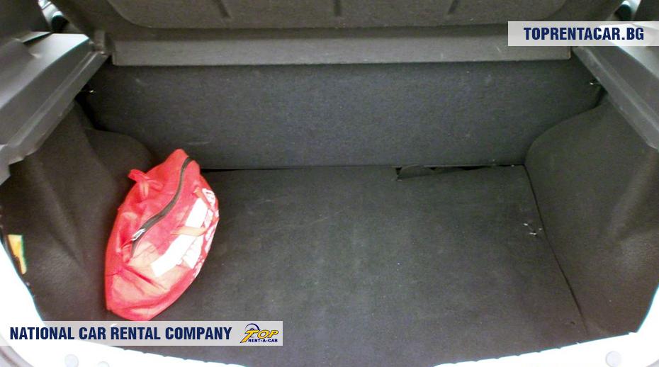 Dacia Sandero - widok z bagażnika