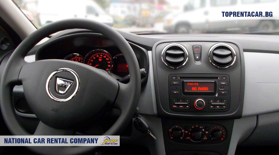Dacia Logan - wewnątrz widoku