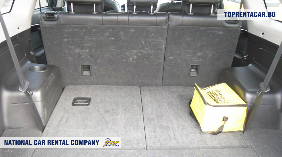 Chevrolet Captiva - widok z bagażnika