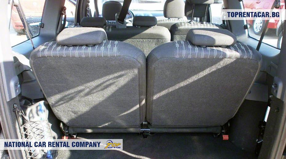 Dacia MCV - widok z bagażnika