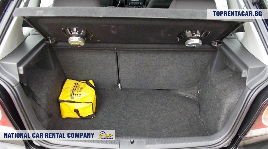 VW Polo - widok z bagażnika