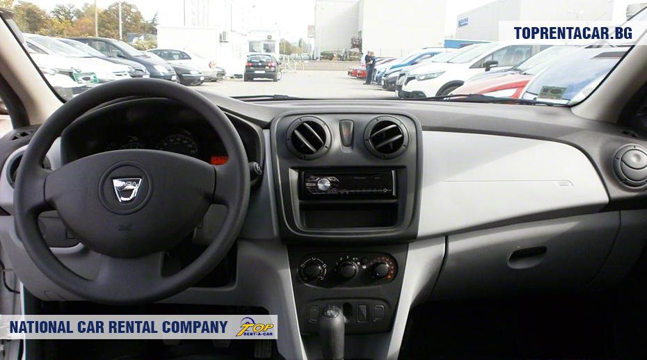 Dacia Sandero - wewnątrz widoku
